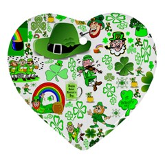 St Patrick s Day Collage Heart Ornament