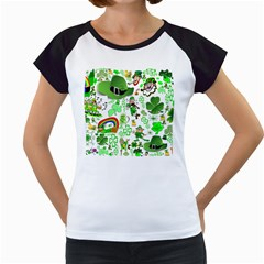 St Patrick s Day Collage Women s Cap Sleeve T Shirt (white) by StuffOrSomething