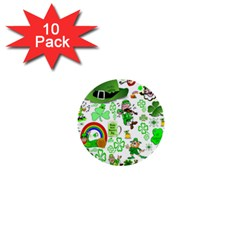 St Patrick s Day Collage 1  Mini Button (10 Pack) by StuffOrSomething