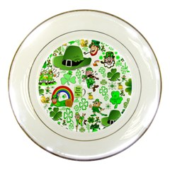 St Patrick s Day Collage Porcelain Display Plate by StuffOrSomething