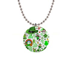 St Patrick s Day Collage Button Necklace by StuffOrSomething