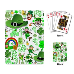 St Patrick s Day Collage Playing Cards Single Design by StuffOrSomething