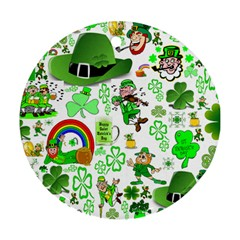 St Patrick s Day Collage Round Ornament (two Sides) by StuffOrSomething