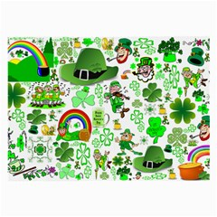 St Patrick s Day Collage Glasses Cloth (large, Two Sided) by StuffOrSomething