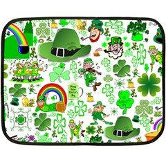 St Patrick s Day Collage Mini Fleece Blanket (two Sided)