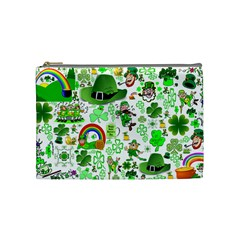 St Patrick s Day Collage Cosmetic Bag (medium) by StuffOrSomething