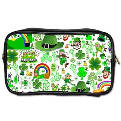 St Patrick s Day Collage Travel Toiletry Bag (two Sides) by StuffOrSomething