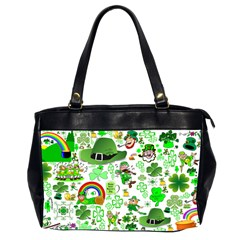 St Patrick s Day Collage Oversize Office Handbag (two Sides) by StuffOrSomething