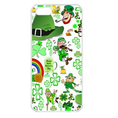 St Patrick s Day Collage Apple Iphone 5 Seamless Case (white) by StuffOrSomething