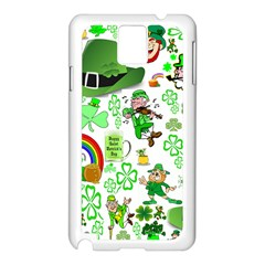 St Patrick s Day Collage Samsung Galaxy Note 3 Case (white) by StuffOrSomething