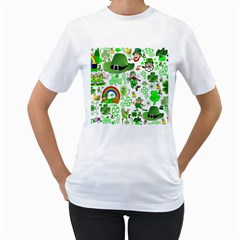 St Patrick s Day Collage Women s T-Shirt (White)