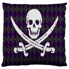 Jolly Roger Sweater Large Cushion Case (single Sided)  by Contest1657721
