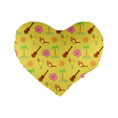 Summer Time 16  Premium Heart Shape Cushion