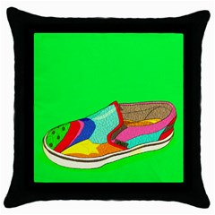 One Black Throw Pillow Case