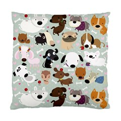Dog Pattern Cushion Case (two Sided)