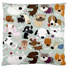 Dog Pattern Large Cushion Case (two Sided)  by Contest1771913