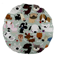 Dog Pattern 18  Premium Round Cushion
