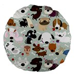 Dog Pattern 18  Premium Round Cushion  Front