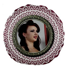 My Lace And Love 18  Premium Round Cushion By Deborah   Large 18  Premium Round Cushion    T26y6uvv0cra   Www Artscow Com Front
