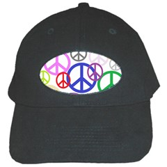 Peace Sign Collage Png Black Baseball Cap by StuffOrSomething