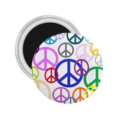 Peace Sign Collage Png 2 25  Button Magnet by StuffOrSomething