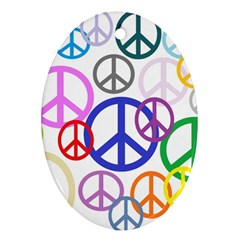 Peace Sign Collage Png Oval Ornament by StuffOrSomething
