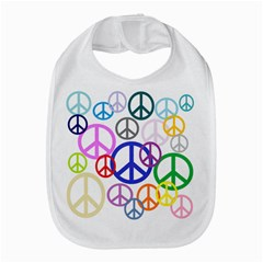Peace Sign Collage Png Bib by StuffOrSomething