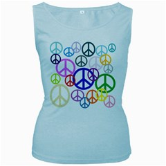 Peace Sign Collage Png Women s Tank Top (baby Blue) by StuffOrSomething