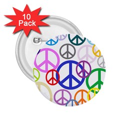 Peace Sign Collage Png 2 25  Button (10 Pack) by StuffOrSomething