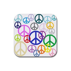 Peace Sign Collage Png Drink Coasters 4 Pack (square)