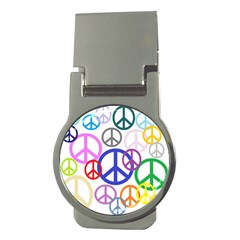 Peace Sign Collage Png Money Clip (round) by StuffOrSomething
