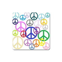 Peace Sign Collage Png Magnet (square) by StuffOrSomething