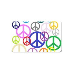 Peace Sign Collage Png Magnet (Name Card) by StuffOrSomething