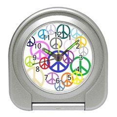 Peace Sign Collage Png Desk Alarm Clock
