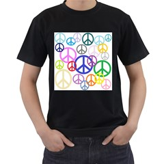Peace Sign Collage Png Men s Two Sided T Shirt (black)