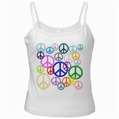 Peace Sign Collage Png White Spaghetti Top