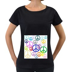 Peace Sign Collage Png Women s Maternity T Shirt (black)