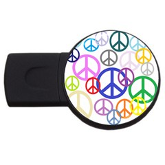 Peace Sign Collage Png 4gb Usb Flash Drive (round) by StuffOrSomething