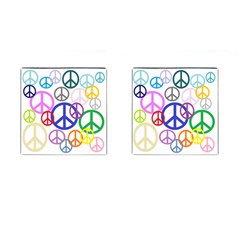 Peace Sign Collage Png Cufflinks (square) by StuffOrSomething