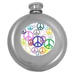 Peace Sign Collage Png Hip Flask (round) by StuffOrSomething