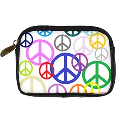 Peace Sign Collage Png Digital Camera Leather Case
