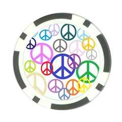 Peace Sign Collage Png Poker Chip (10 Pack) by StuffOrSomething