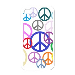 Peace Sign Collage Png Apple Iphone 4 Case (white) by StuffOrSomething