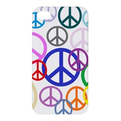 Peace Sign Collage Png Apple Iphone 4/4s Premium Hardshell Case by StuffOrSomething