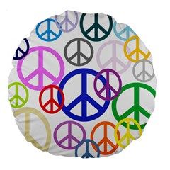 Peace Sign Collage Png 18  Premium Round Cushion  by StuffOrSomething