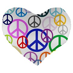 Peace Sign Collage Png 19  Premium Heart Shape Cushion by StuffOrSomething