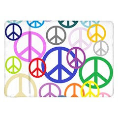 Peace Sign Collage Png Samsung Galaxy Tab 8 9  P7300 Flip Case
