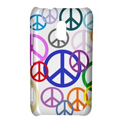 Peace Sign Collage Png Nokia Lumia 620 Hardshell Case by StuffOrSomething