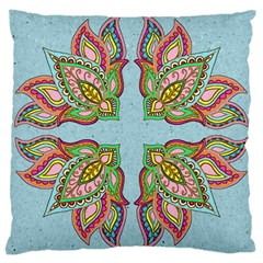 Flowers Large Cushion Case (single Sided)
