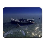 Skeleton Castaway and Shark Fantasy Small Mousepad
